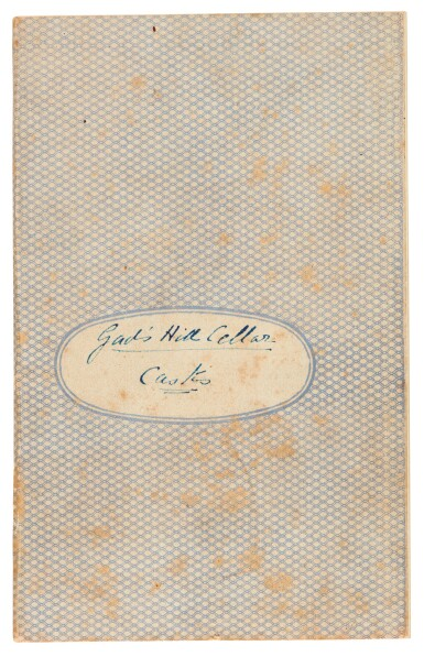 View 2. Thumbnail of Lot 220. Dickens, Autograph manuscript notebook, titled 'Gad's Hill Cellar Casks', 1870.