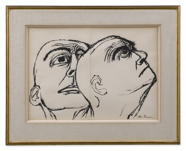 View 2. Thumbnail of Lot 154. Head Study: A Diptych.