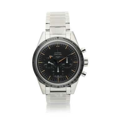 View 5. Thumbnail of Lot 12. OMEGA | THREE 60TH ANNIVERSARY LIMITED EDITION STAINLESS STEEL WRISTWATCHES, CIRCA 2017 |  SPEEDMASTER REF 311.10.39.30.01.002 A LIMITED EDITION STAINLESS STEEL CHRONOGRAPH WRISTWATCH WITH BRACELET, CIRCA 2017 .
