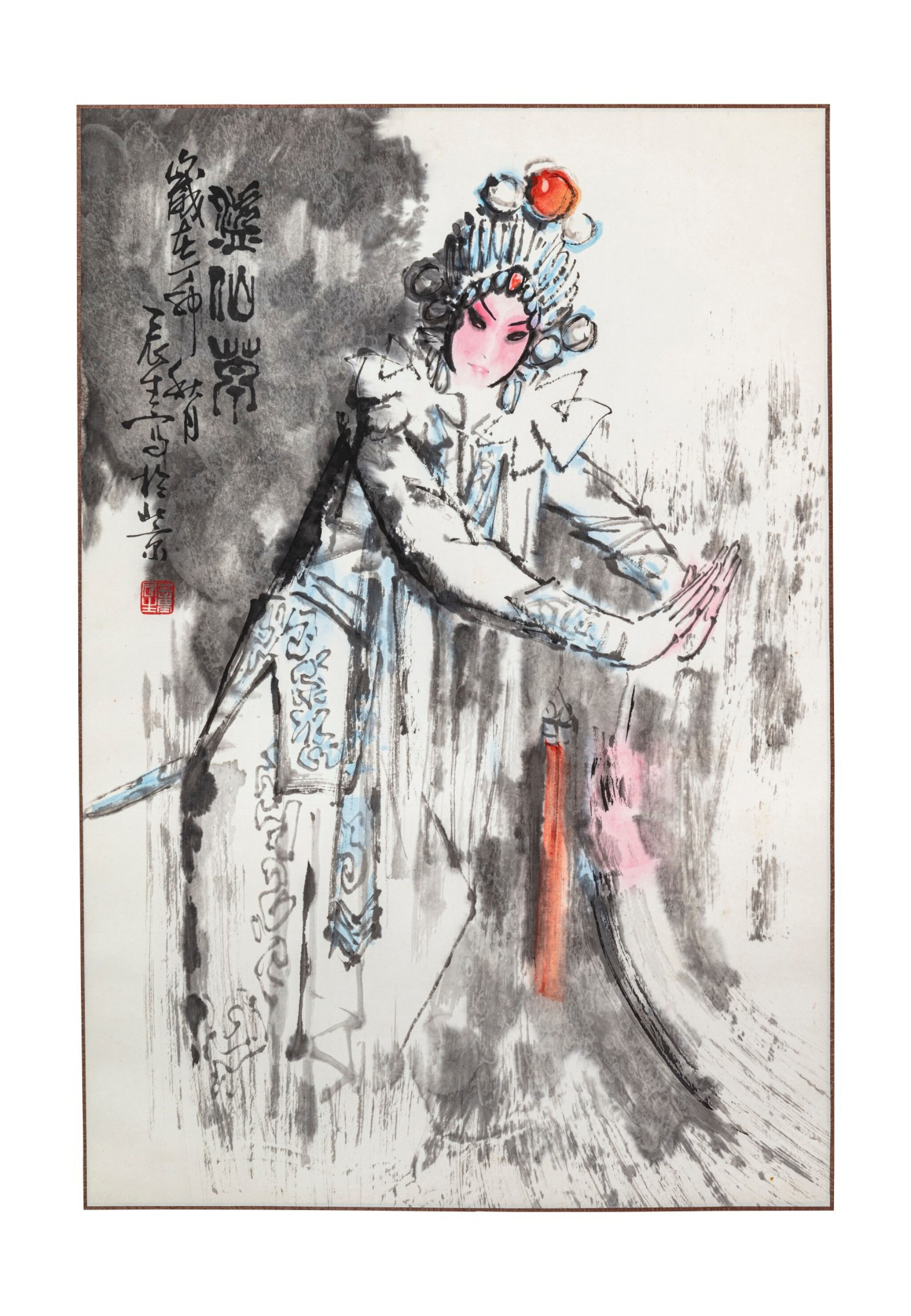 View 1 of Lot 140. Artistes variés Ensemble de six peintures d'Opéra chinois   京劇人物 一組六幀   Various artists Set of Six Paintings of Chinese Opera.