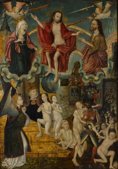 View 1. Thumbnail of Lot 107. SCHOOL OF COLOGNE, CIRCA 1500 | The Last Judgement.