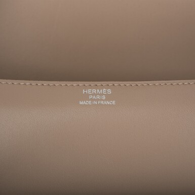 HERMÈS | ARGYLE CHERCHE-MIDI SHOULDER BAG 18CM OF TADELAKT LEATHER WITH PALLADIUM HARDWARE