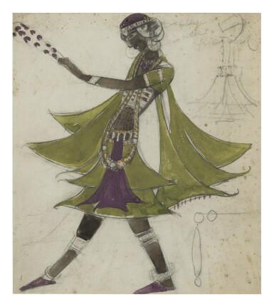 BORIS ANISFELD   COSTUME DESIGN FOR A SLAVE IN TURANDOT