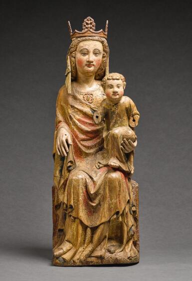 MOSAN, MID-14TH CENTURY | VIRGIN AND CHILD ENTHRONED