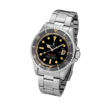 View 2. Thumbnail of Lot 2128. Rolex | Submariner 'Single Red', Reference 1680, A stainless steel wristwatch with date and bracelet, Circa 1970 | 勞力士 | Submariner 'Single Red' 型號1680  精鋼鏈帶腕錶,備日期顯示,約1970年製.