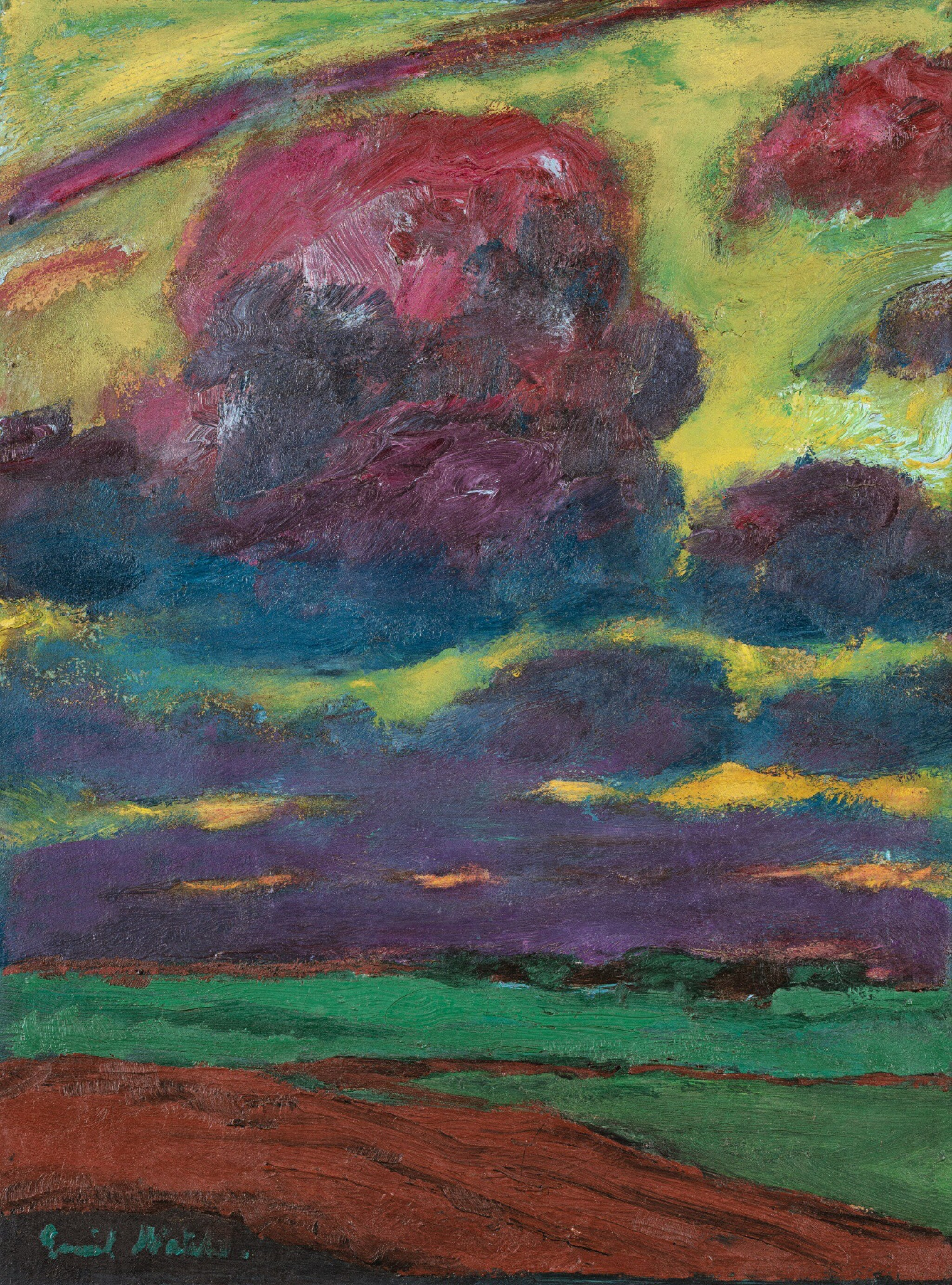 View full screen - View 1 of Lot 11. EMIL NOLDE   WOLKEN (CLOUDS).