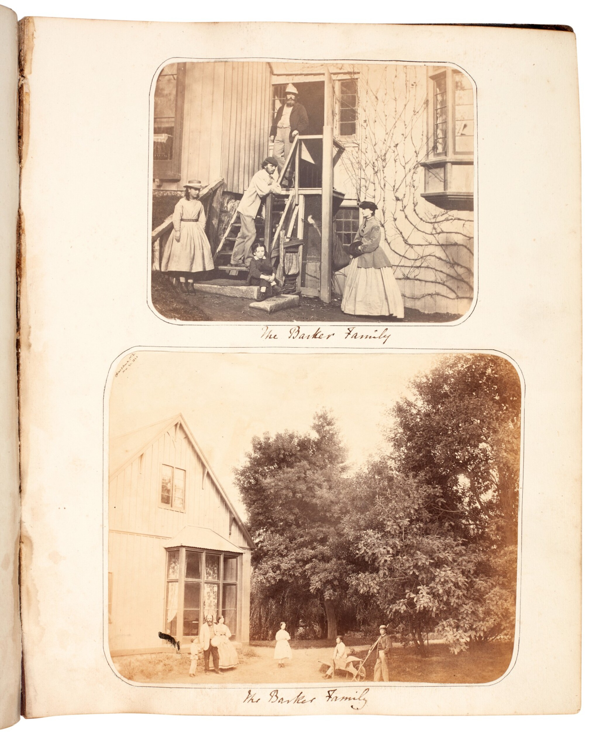 View full screen - View 1 of Lot 40. BARKER, and others | Album of photographs of New Zealand, Jamaica and England, 1863-82.