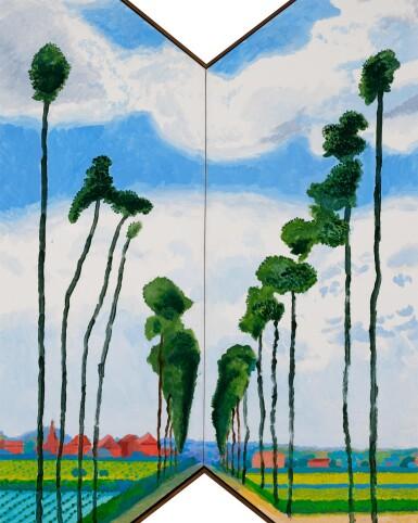 View 3. Thumbnail of Lot 117. Tall Dutch Trees After Hobbema (Useful Knowledge) 2017 |《實用知識:荷蘭高木(隨霍貝瑪之作)》.