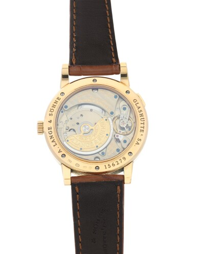 View 6. Thumbnail of Lot 303. A. LANGE & SÖHNE   REFERENCE 309.031 GRAND LANGEMATIK  A PINK GOLD AUTOMATIC WRISTWATCH WITH DATE, CIRCA 2005.