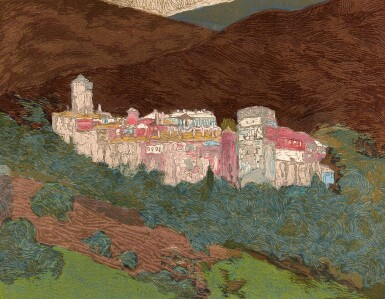 View 2. Thumbnail of Lot 96. Schmied and Goulden. Salonique, la Macédoine, l'Athos. Paris, 1922, modern pictorial morocco.