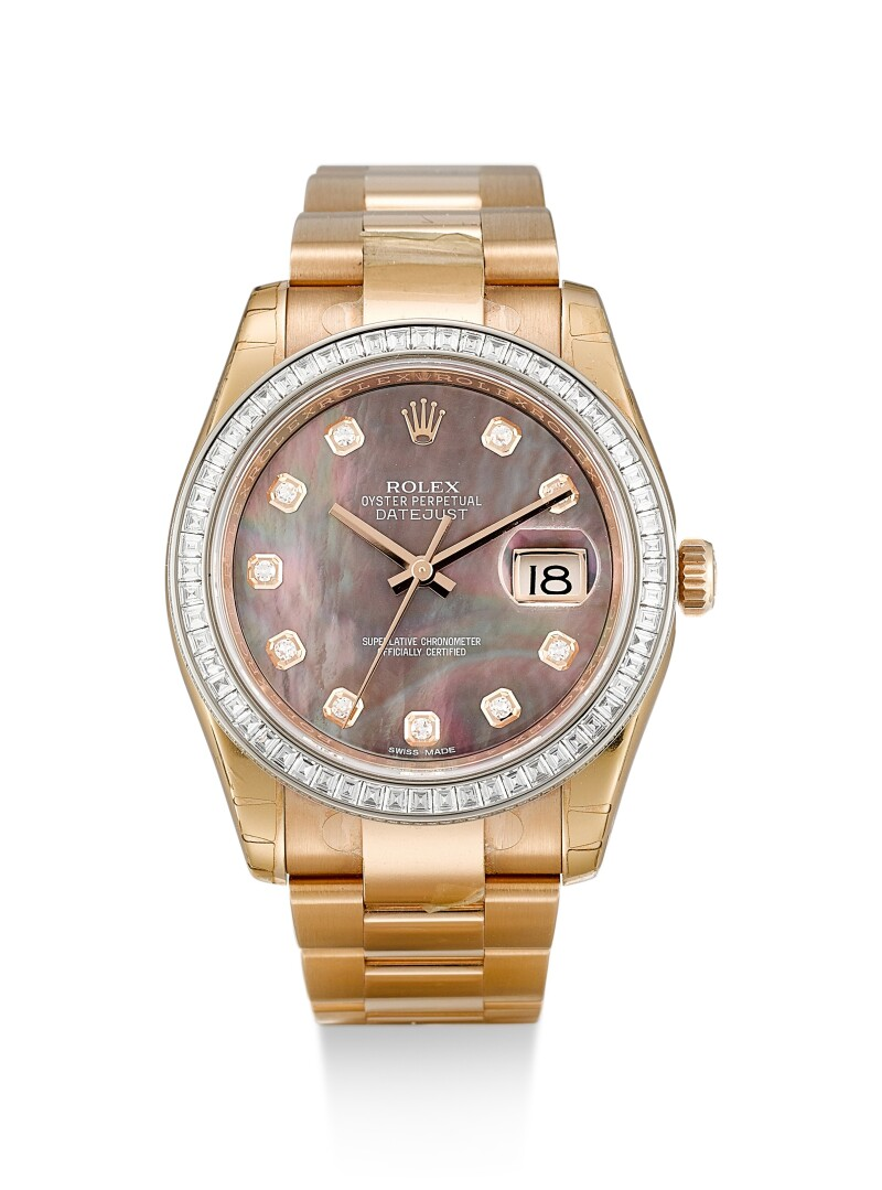 Reference 116285BB  A Pink Gold And Diamond-Set Wristwatch With Mother-Of-Pearl Dial, Date And Bracelet, Circa 2018