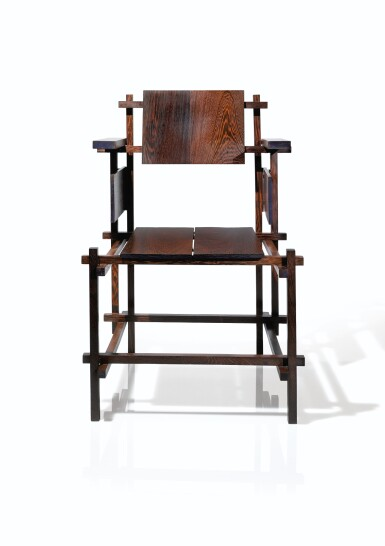 View 3. Thumbnail of Lot 8. Hoge armchair, designed in 1919, our model of 1963     .