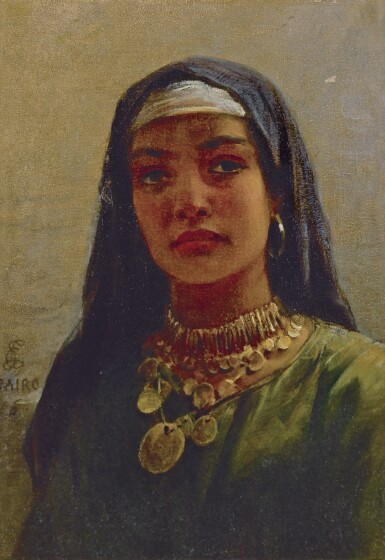 EDWIN LONGSDEN LONG, R.A. | Egyptian Beauty