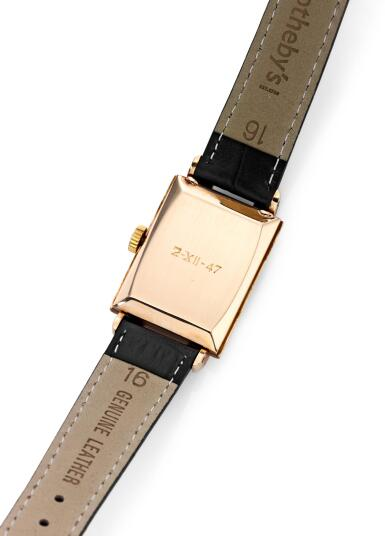 View 3. Thumbnail of Lot 8108. PATEK PHILIPPE | REF 1480, A PINK GOLD WRISTWATCH, MADE IN 1947.