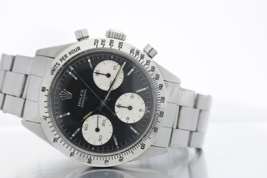 View 12. Thumbnail of Lot 1. ROLEX | REFERENCE 6239 'DOUBLE SWISS UNDERLINE' DAYTONA   A STAINLESS STEEL CHRONOGRAPH WRISTWATCH WITH REGISTERS, CIRCA 1963.