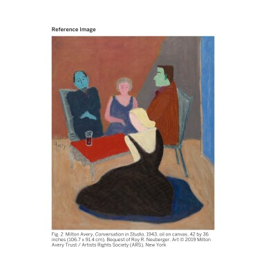 View 4. Thumbnail of Lot 28. MILTON AVERY |  PORCH SITTERS.