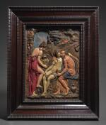 ATTRIBUTED TO DANIEL NEUBERGER THE YOUNGER (1621-1680), GERMAN, AUGSBURG, MID-17TH CENTURY | RELIEF WITH LOT AND HIS DAUGHTERS