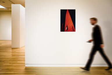 View 2. Thumbnail of Lot 66. Cynthia Korman in front of a Luis Barragán Building .