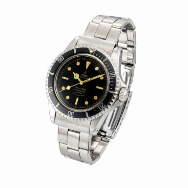 View 2. Thumbnail of Lot 2252. Tudor | Submariner, Reference 7928, A stainless steel wristwatch with bracelet, Circa 1958 | 帝陀 | Submariner 型號7928  精鋼鏈帶腕錶,1958年製.