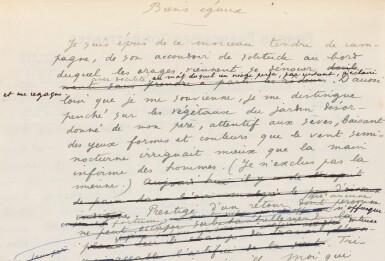 View 5. Thumbnail of Lot 132.  Le Poème pulvérisé, 1947. Ex. avec la lithographie signée. Envoi de Char à Éluard (rel. de P.L. Martin).