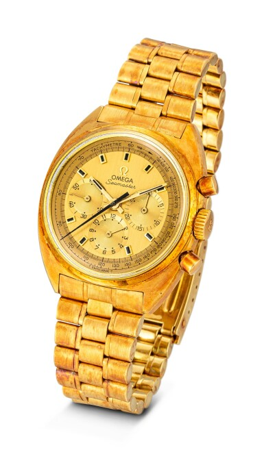 View 2. Thumbnail of Lot 110. OMEGA | SEAMASTER, REFERENCE 145.006 A YELLOW GOLD CHRONOGRAPH WRISTWATCH WITH BRACELET, CIRCA 1970.