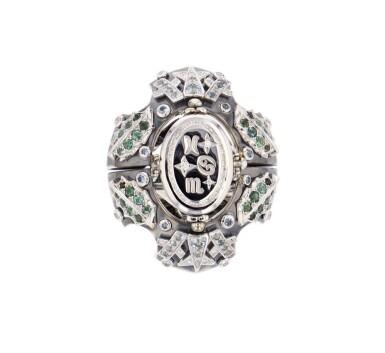 View 6. Thumbnail of Lot 11. Elie Top, Gem-Set, Diamond and Chrysoprase Ring [Bague Pierres de Couleur, Diamants et Chrysoprase], 'Eau d'Hiver'.