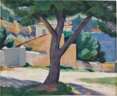 View 1. Thumbnail of Lot 1. Tree and Houses on the French Riviera.