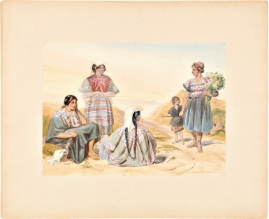 View 3. Thumbnail of Lot 229. Nebel, Carl   Four highly-accomplished watercolors by one of the most important illustrators working in 19th century .
