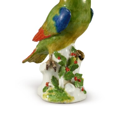 View 5. Thumbnail of Lot 206. A MEISSEN FIGURE OF A PARROT, CIRCA 1745.