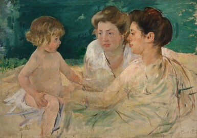 MARY CASSATT   THE SUN BATH, WITH THREE FIGURES