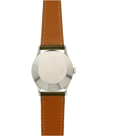View 5. Thumbnail of Lot 37. PATEK PHILIPPE | REFERENCE 570 CALATRAVA  A WHITE GOLD WRISTWATCH, MADE IN 1966.