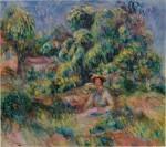 Femme de le jardin de Cagnes (Femme assise dans l'herbe)