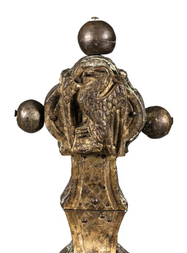 View 10. Thumbnail of Lot 3. ITALIAN, PROBABLY TUSCANY, CIRCA 1500   AN IMPORTANT DOUBLE-SIDED PROCESSIONAL CROSS.