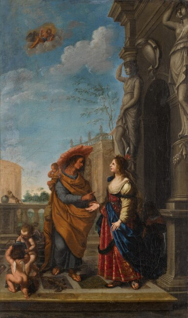 JOHANN SPILLENBERGER | Mercury Encountering Aglauros at the House of Herse and her father, King Cecrops