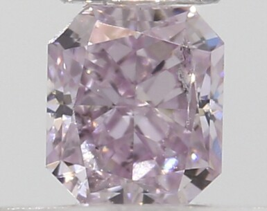 A Group of 6 Cut-Cornered Square Modified Brilliant Fancy Pink Diamonds