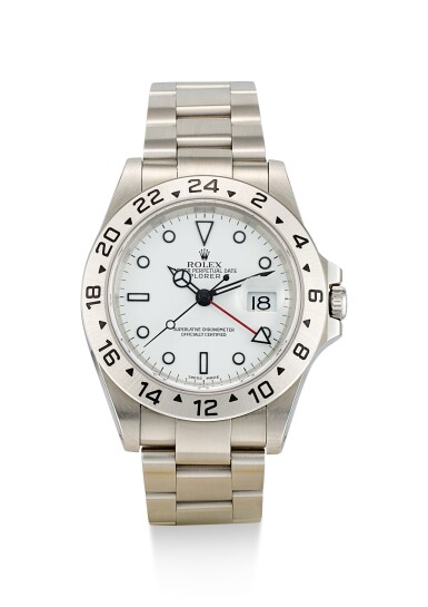 ROLEX | EXPLORER II, REFERENCE 16570, A STAINLESS STEEL DUAL TIME ZONE WRISTWATCH WITH DATE AND BRACELET, CIRCA 2000