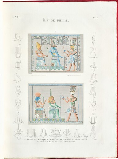 Description de l'Égypte, housed in a custom made display cabinet