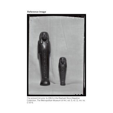 View 7. Thumbnail of Lot 66. AN EGYPTIAN BROWN SERPENTINE USHABTI OF NEDJEM-IB, LATE 12TH/13TH DYNASTY, CIRCA 1800-1640 B.C..