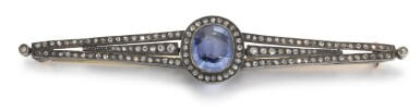 View 2. Thumbnail of Lot 64. A Fabergé jewelled gold and platinum brooch, workmaster August Holmström, St Petersburg, circa 1900.
