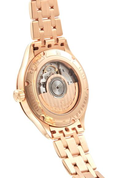 View 3. Thumbnail of Lot 8043. CARL F. BUCHERER | MANERO AUTODATE, REFERENCE 10908.03,  A PINK GOLD WRISTWATCH WITH DATE AND BRACELET, CIRCA 2010.
