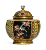 A NAMIKAWA-STYLE VASE AND COVER   MEIJI PERIOD, LATE 19TH CENTURY