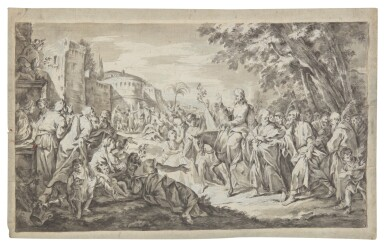 View 1. Thumbnail of Lot 18. GERMAN SCHOOL, 17TH CENTURY | CHRIST ENTERING JERUSALEM.