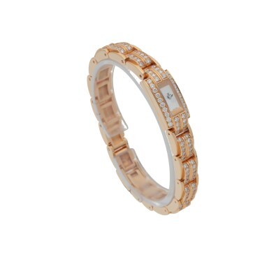 View 3. Thumbnail of Lot 563. JAEGER-LECOULTRE | REF 285.2.70, PINK GOLD AND DIAMOND-SET BRACELET WATCH   CIRCA 2012.