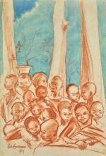 BEN ENWONWU   CROWD AT NSUGBE VILLAGE, ONITSHA PROVINCE