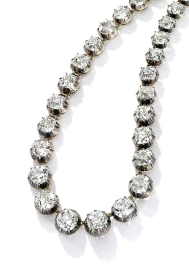 View 2. Thumbnail of Lot 197. FINE DIAMOND RIVIÈRE, 19TH CENTURY [鑽石項鏈,十九世紀].