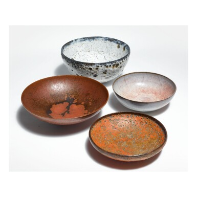 View 1. Thumbnail of Lot 264. GERTRUDE AND OTTO NATZLER   FOUR BOWLS.