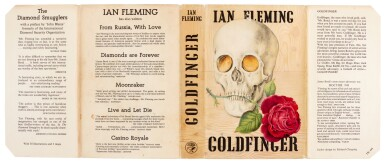 View 2. Thumbnail of Lot 37. FLEMING | Goldfinger, 1959, first edition, presentation copy inscribed to Raymond Chandler.