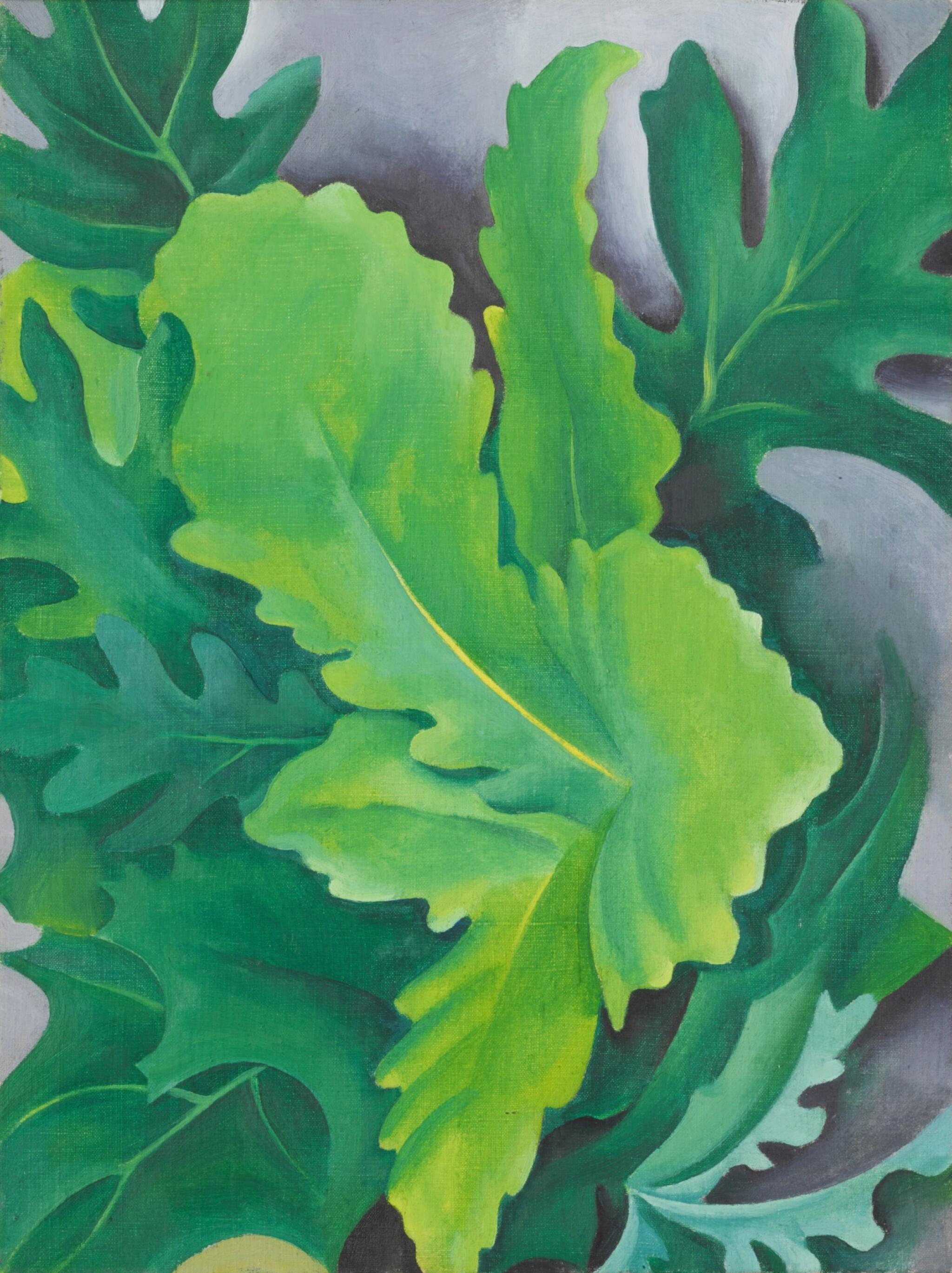 View full screen - View 1 of Lot 7. Green Oak Leaves.