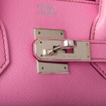 Hermès 5P Bubblegum Pink Birkin 30cm of Epsom Leather with Palladium Hardware