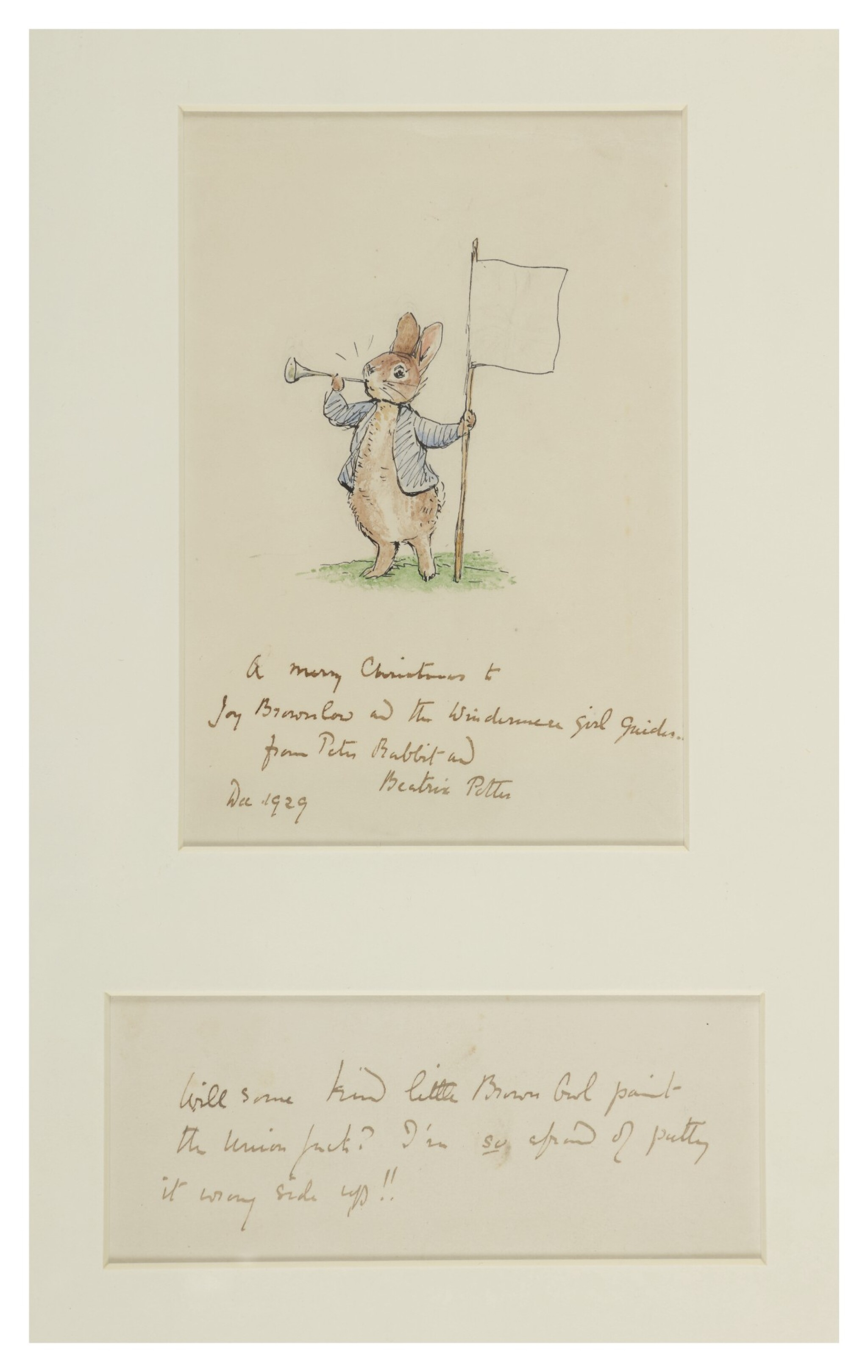 View full screen - View 1 of Lot 241. Potter, Beatrix   A splendid iconic drawing of Peter Rabbit.